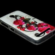 Husa telefon, Allview V1 Viper S, Roz, Gel TPU, Husa - HUSA ALLVIEW V1 VIPER S SILICON MODEL 05 ROSES - CURIER GRATUIT