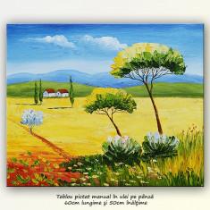Tablou peisaj din Toscana (1) - ulei pe panza 60x50cm
