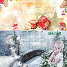 Vand template-uri PSD, Photo Frame, Cover DVD, Calendare 2015 speciale pentru Craciun, Anul Nou, ideale pentru scoli si gradinite - Software Grafica, Editari foto si digitale, Windows 7