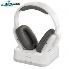 Casti Wireless Thomson WHP3311W, albe, fara fir - Casti Philips, Casti Over Ear
