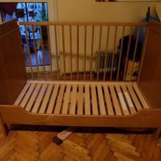 Patut lemn pentru bebelusi, 120x60cm - Patut bebe ikea cu saltea