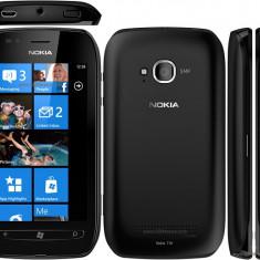 Nokia Lumia 710 stare perfecta cu toate accesoriile BONUS husa piele - Telefon mobil Nokia Lumia 710, Negru, Vodafone