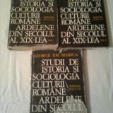 STUDII DE ISTORIA SI SOCIOLOGIA CULTURII ROMANE ARDELENE DIN SECOLUL AL XIX-LEA ~ GEORGE EM. MARICA - 3 volume ( vol.1+2+3 ) - Istorie