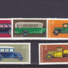 Timbre straine, Nestampilat - Transport masini vechi, URSS.