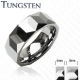 Inel Verigheta Fatetata din Tungsten TCR-067