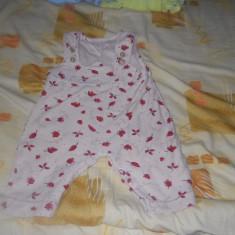 Salopeta fara picior din bumbac grosut pentru copii 12-18 luni, made in Portugalia, Culoare: Crem, Unisex