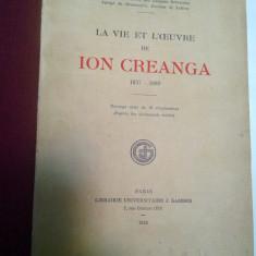 LA VIE ET L'OEUVRE DE ION CREANGA - JEAN BOUTIERE 1930