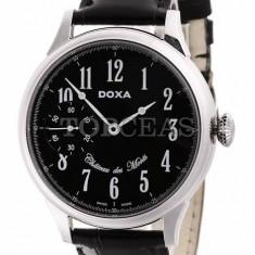 Ceas Barbatesc Doxa - Ceas de lux Doxa Chateau Des Monts Steel Black Limited, original, nou, cu factura si garantie!