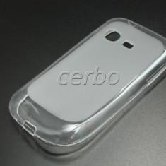Husa Telefon Samsung, Transparent, Silicon, Husa - Husa SAMSUNG GALAXY CHAT B5330 silicon + FOLIE CADOU