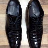 Pantofi Calvin Klein, piele naturala lacuita