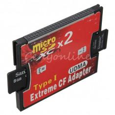 Adaptor Micro SD/SD XC TF la Compact Flash CF Type I