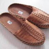 Sandale papuci gen opinci piele naturala, handmade, noi, 35, cehoslovacia