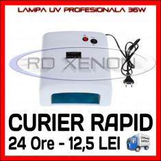 Lampa uv unghii Sina - LAMPA UV 36W PROFESIONALA, MANICHIURA UNGHII FALSE GEL UV - 4 BECURI 9W INCLUSE