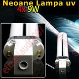 Set 4 neoane tub becuri pentru lampa uv de manichiura - Lampa uv unghii