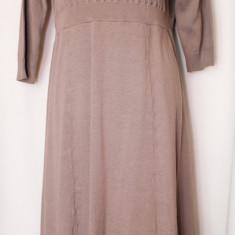 Rochie tricotate - Rochie tricotata culoare cappuccino M/L