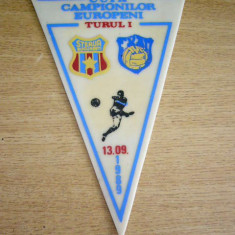 Fanion fotbal - MCF - FANION - STEAUA BUCURESTI - FRAM REYKJAVIK - CCE - 13 SEPTEMBRIE 1989