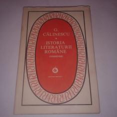 G. CALINESCU - ISTORIA LITERATURII ROMANE ~ COMPENDIU