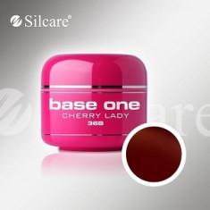 Gel uv Polonia Silcare Base one color Cherry Lady 5 ml, pentru unghii false - Gel unghii