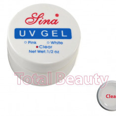 Gel unghii - Gel Constructie Unghii UV Sina 15 ml Clear - Gel UV Transparent