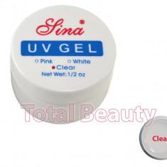 Gel Constructie Unghii UV Sina 15 ml Clear - Gel UV Transparent - Gel unghii