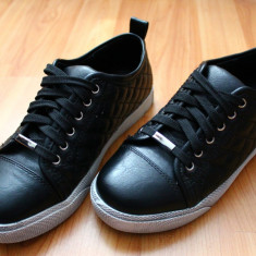 Pantofi Casual Sport - Pantof dama, Marime: 36, Culoare: Negru, Piele sintetica