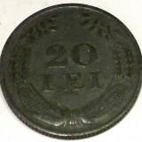 ROMANIA 20 LEI 1942, 6 g., Zinc, 26.3 mm, Mihai I ** - Moneda Romania