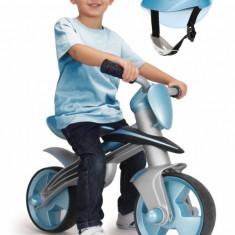 Bicicleta pentru copii - Bicicleta fara pedale Jumper Balance Bike cu casca Albastru Injusa