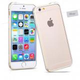Husa BUMPER ALUMINIU premium - HOCO Fedora, iPhone 6, ultra usor, LUX, ARGINTIU - Husa Telefon Hoco, iPhone 6/6S, Metal / Aluminiu