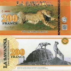 LA SAVANNA- 200 FRANCS 2015- UNC!! - bancnota africa
