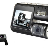 "Camera Video Auto Dubla Allwinner F20 2.0"" TFT Verificare Colet, 32GB, Wide, Double, HD, miniUSB"