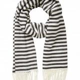 Esarfa, Sal Dama - Esarfa soft Vero Moda - 10136387 dungi alb- negru