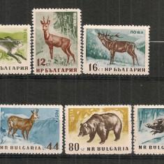 Timbre straine - Bulgaria.1958 Animale salbatice PP.7