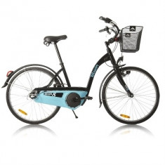 Bicicleta de oras, 17 inch, 26 inch, Numar viteze: 3, Otel, Negru-Albastru - Bicicleta oras B'Twin Elops5 Decathlon