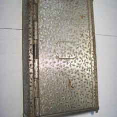 Tabachera automata veche de Tutun in metal, Patent AF Austria cca 1900. - Tabachera veche
