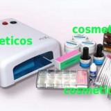 Kit unghii false/gel - lampa UV,12 geluri colorate,tipsuri  - KIT STEP PROMOTIE