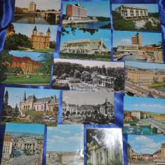 Lot 27 CP ORADEA + BAILE FELIX. (Carti postale vechi, Vederi Romania), Circulata, Fotografie, Romania de la 1950