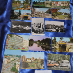 Lot 20 CP TIMISOARA. Alb-Negru si Color . (Carti postale vechi, Vederi Romania), Circulata, Fotografie, Romania de la 1950
