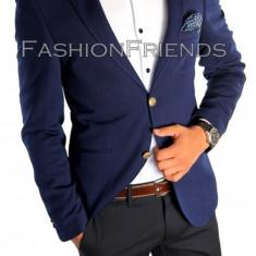Sacou tip Zara Man bleumarin - sacou barbati- sacou casual - cod 4885, Marime: 50, Culoare: Din imagine