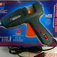 Pistol de lipit cu silicon DGHL 60W 100W 11mm buton dubla temperatura