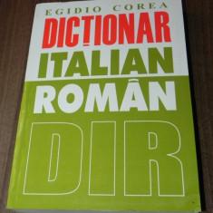 EGIDIO COREA - DICTIONAR ITALIAN -ROMAN. EDITIA A 2-A Altele