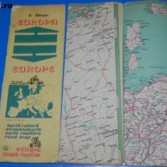 Harta Turistica - A BARSAN - HARTA SI TEXT ANEXA LA HARTA RUTIERA A EUROPEI 1981