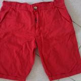 Pantaloni scurti de blugi, de dama, rosii, marimea M, model casual