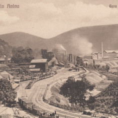 ROMANIA CARTE POSTALA ANINA, GARA SI UZINELE - Carte Postala Banat 1904-1918, Necirculata, Printata