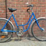 Bicicleta de oras, 20 inch, 26 inch, Numar viteze: 1, Otel, Albastru - Bicicleta dama de oras