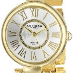 Akribos XXIV Women's AK679YG Lady Diamond | 100% original, import SUA, 10 zile lucratoare af22508 - Ceas dama