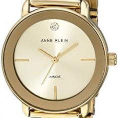 Anne Klein Women's AK 1990CHGB Diamond-Accented | 100% original, import SUA, 10 zile lucratoare af22508 - Ceas dama