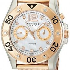 Akribos XXIV Women's AK553RG Diamond Multi-Function | 100% original, import SUA, 10 zile lucratoare af22508 - Ceas dama