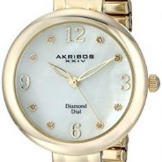 Akribos XXIV Women's AK765YG Impeccable Gold-Tone | 100% original, import SUA, 10 zile lucratoare af22508 - Ceas dama