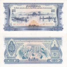 LAOS 100 kip ND 1975 PATHET AUNC/AUNC+!!! - bancnota asia