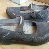 Pantofi din piele firma SOLOMON marimea 39, arata impecabil! - Pantof dama, Culoare: Gri, Piele naturala